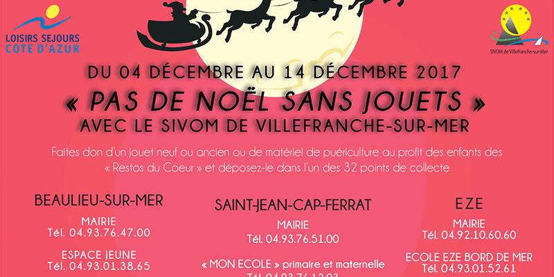 4 au 14 décembre : opération «Pas de Noël sans jouets»