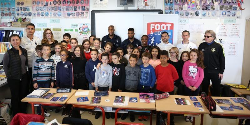 Des stars du foot en visite à l'école !